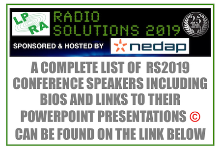 LPRA RS2019 - POST CONFERENCE SUMMARY » Low Power Radio